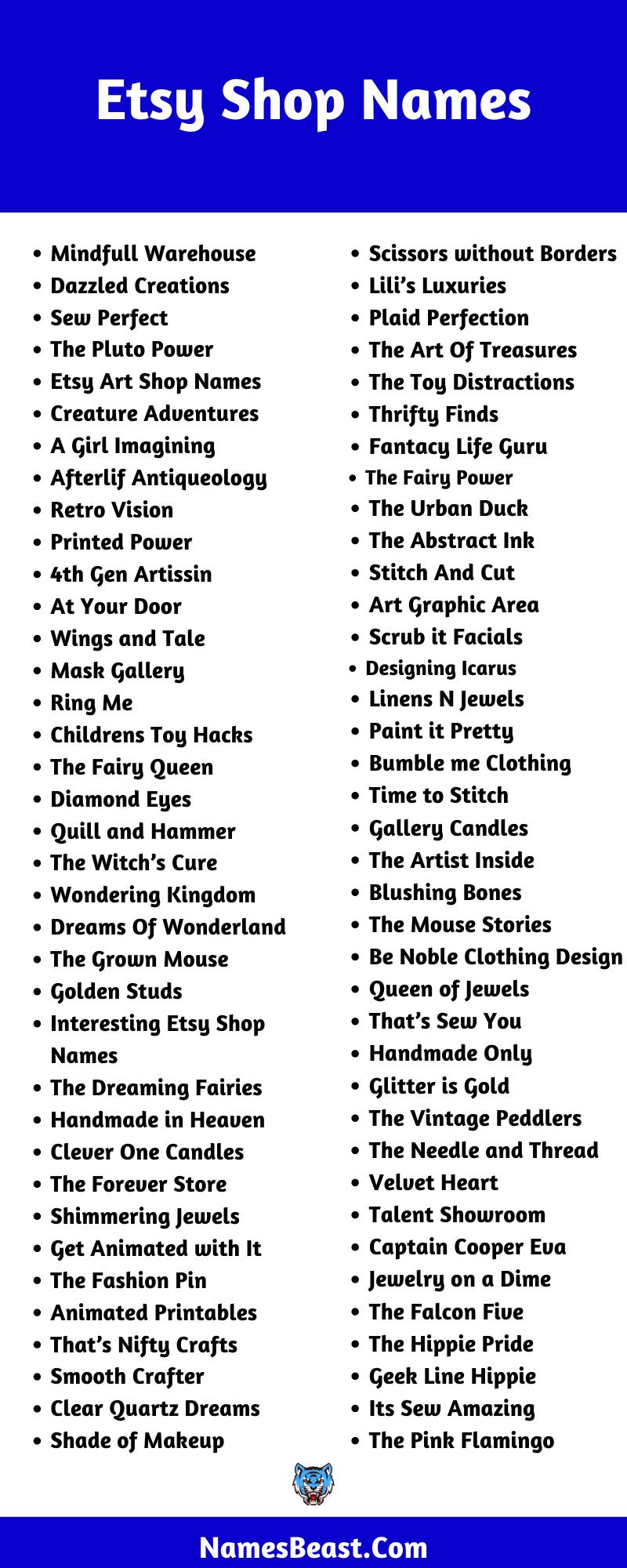Etsy Shop Name Ideas
