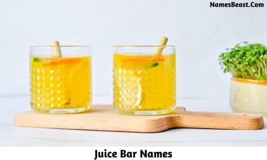 Juice Bar Names