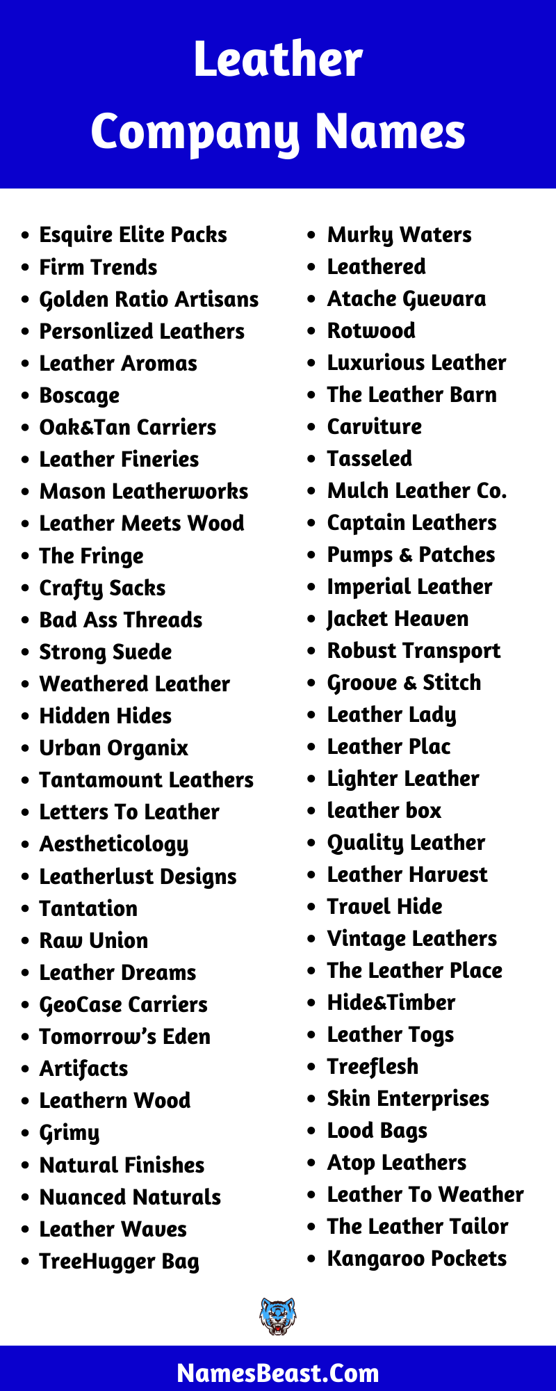Leather Company Name Ideas