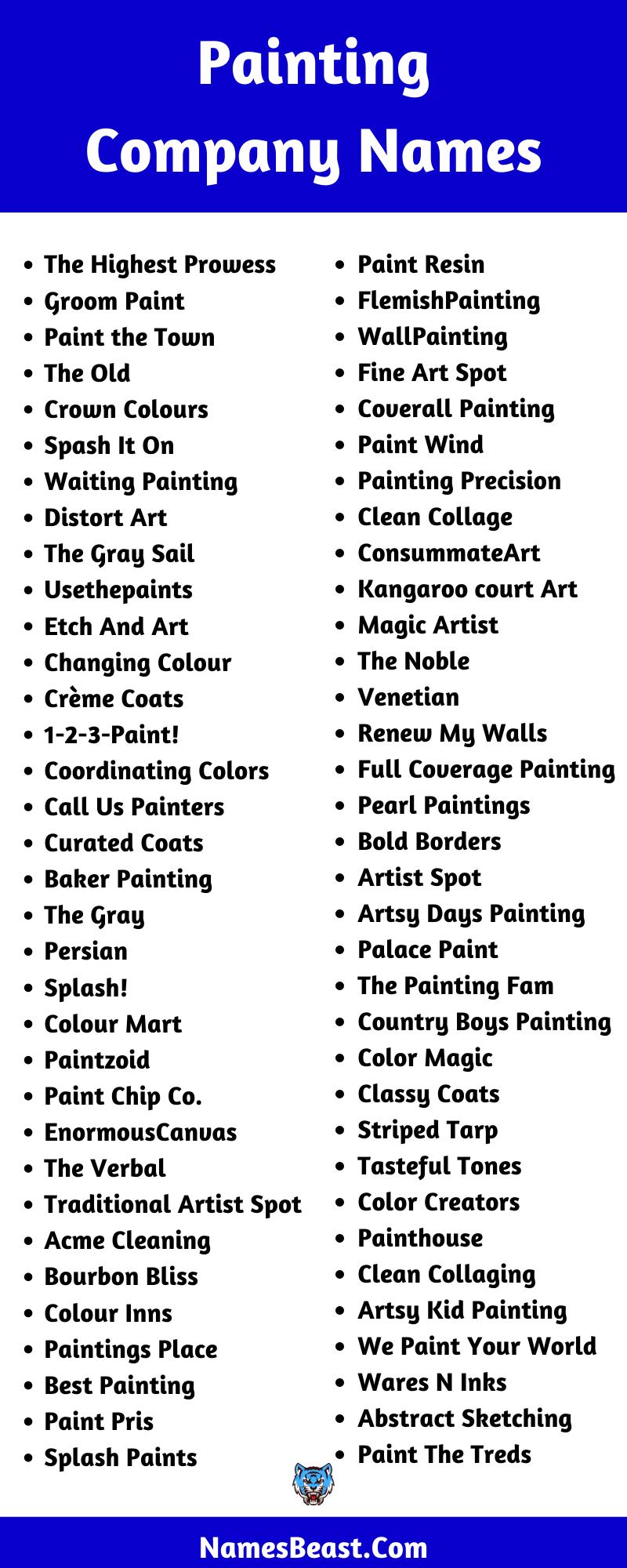 Painting Company Name Ideas