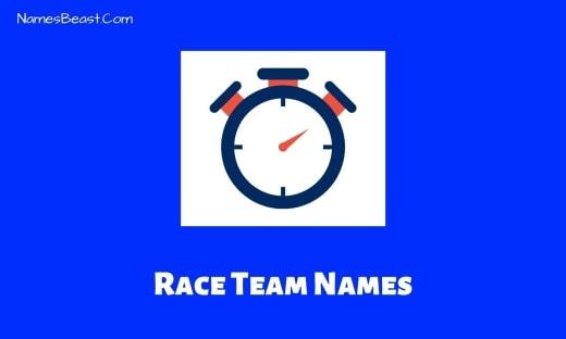 Race Team Names
