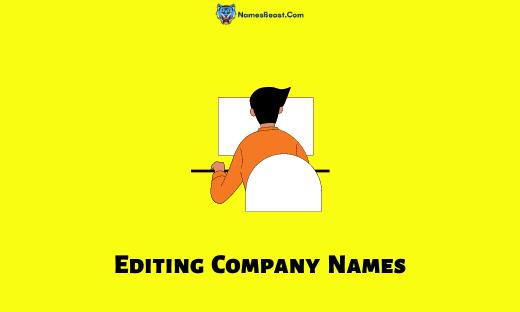 Editing Company Names
