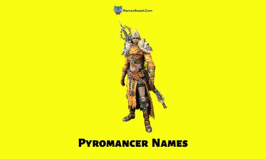 Pyromancer Names