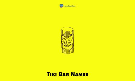 Tiki Bar Names