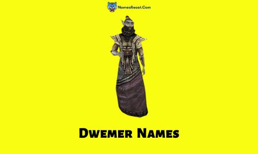 Dwemer Names