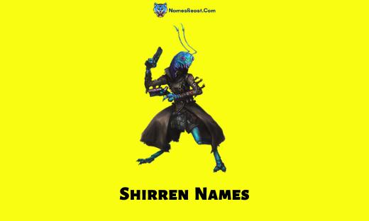 Shirren Names