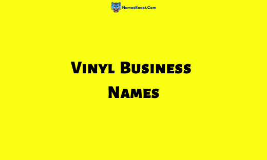 Vinyl Business Names